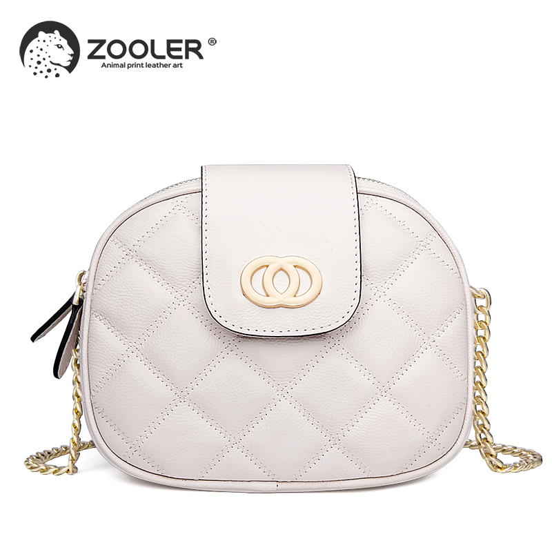 Round small 2019 hot genuine leather woman bag ZOOLER shoulder bag luxury designed woman messenger bag