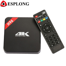 Hot H96 Android TV Box 1GB DDR3 8GB ROM S905 Quad Core Media Player WiFi DLNA Airplay Smart IPTV box UHD 4K 3D Miracast