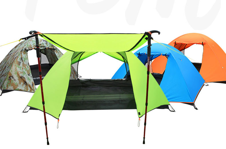 1.8kg Outdoor tent camping tent factory wholesale double layer aluminum rod Ultralight tent against rainstorms outdoor camping hiking automatic camping tent 4person double layer family tent sun shelter gazebo beach tent awning tourist tent
