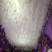 Новое поступление Белое Облако Топ снег Пряжа свадебное украшение потолка Sheer для свадьбы центральные события Декор поставки