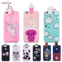 Soft Silicone Case on For Coque Huawei P8 Lite 2017 Back Cover Fundas 3D Unicorn Panda Phone