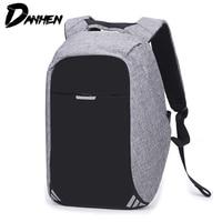 DANHEN Men Backpack Male USB Charging Anti Theft 15.6 inch Laptop Backpack Bag Student Travel Backpack School Bags Mochila