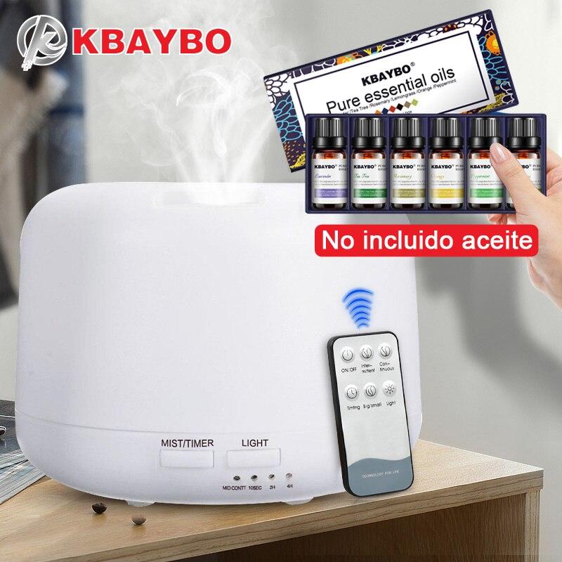 300 ML Ultrasonic Aroma Umidificador de Ar de Controle remoto Com Luzes Cor de 7 Elétrica Difusor de Aromaterapia Aroma do Óleo Essencial