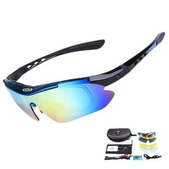 491668e249 OBAOLAY polarizado gafas ciclismo gafas de sol hombres mujeres Marco de  acetato de policarbonato 5 lente UV400 pesca gafas de gafas