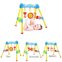 New 0 3 year old newborn baby toys baby fitness frame music projection remote control baby rattle toys