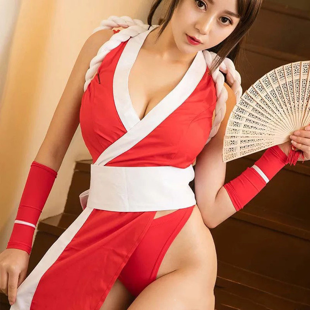 Adult Women Anime Mai Shiranui Clothing Ladies Sexy Japan Cosplay Porn Games Wrap Erotic Bondage Restraint