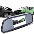 "Car DVR Camera Mirror TFT Screen Video Recorder Dash Cam Night Vision Rearview Camera 4.3"" Full HD 1080P"