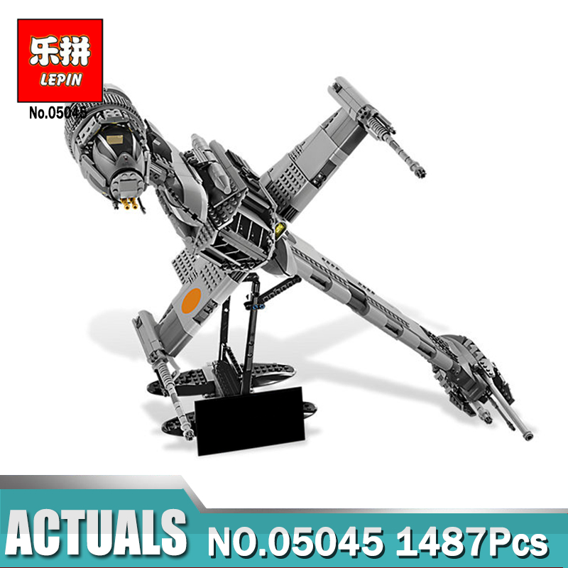 Lepin 05045 Star-Wars Series The B toy wing fighter Educational Building Blocks Bricks Compatible Legoinglys 10227 Toys Gift lepin 05060 the rogue one usc naboo style fighter set 10026 star series wars 187pcs building blocks bricks educational toys