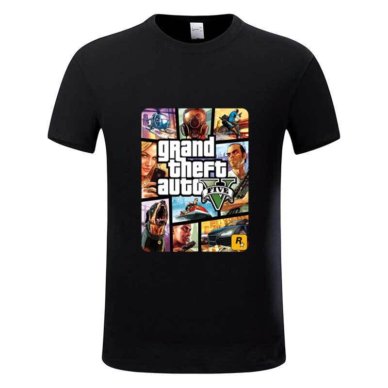 Grand Theft Auto GTA   T     Shirt   Men Street Long with GTA 5   T  -  shirt   Men and Women Famous Brand TShirt Children Tops Tees GTA5,GMT005