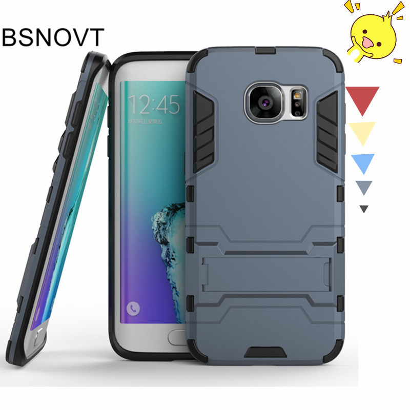 For Samsung Galaxy S7 Edge Case TPU PC Anti knock Phone Case For Samsung Galaxy S7 Edge Cover For Samsung S7 Edge Funda BSNOVT in Fitted Cases from Cellphones Telecommunications