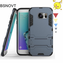 купить For Samsung Galaxy S7 Edge Case TPU + PC Anti-knock Phone Case For Samsung Galaxy S7 Edge Cover For Samsung S7 Edge Funda BSNOVT онлайн