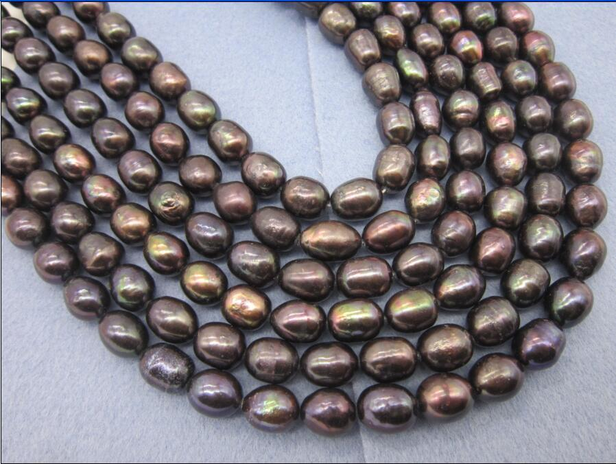 100 10X11 MM AAA SOUTH Brown green PEARL NECKLACE Yellow CLASP аксессуар заспинный колчан bowmaster tento ref yellow brown 277