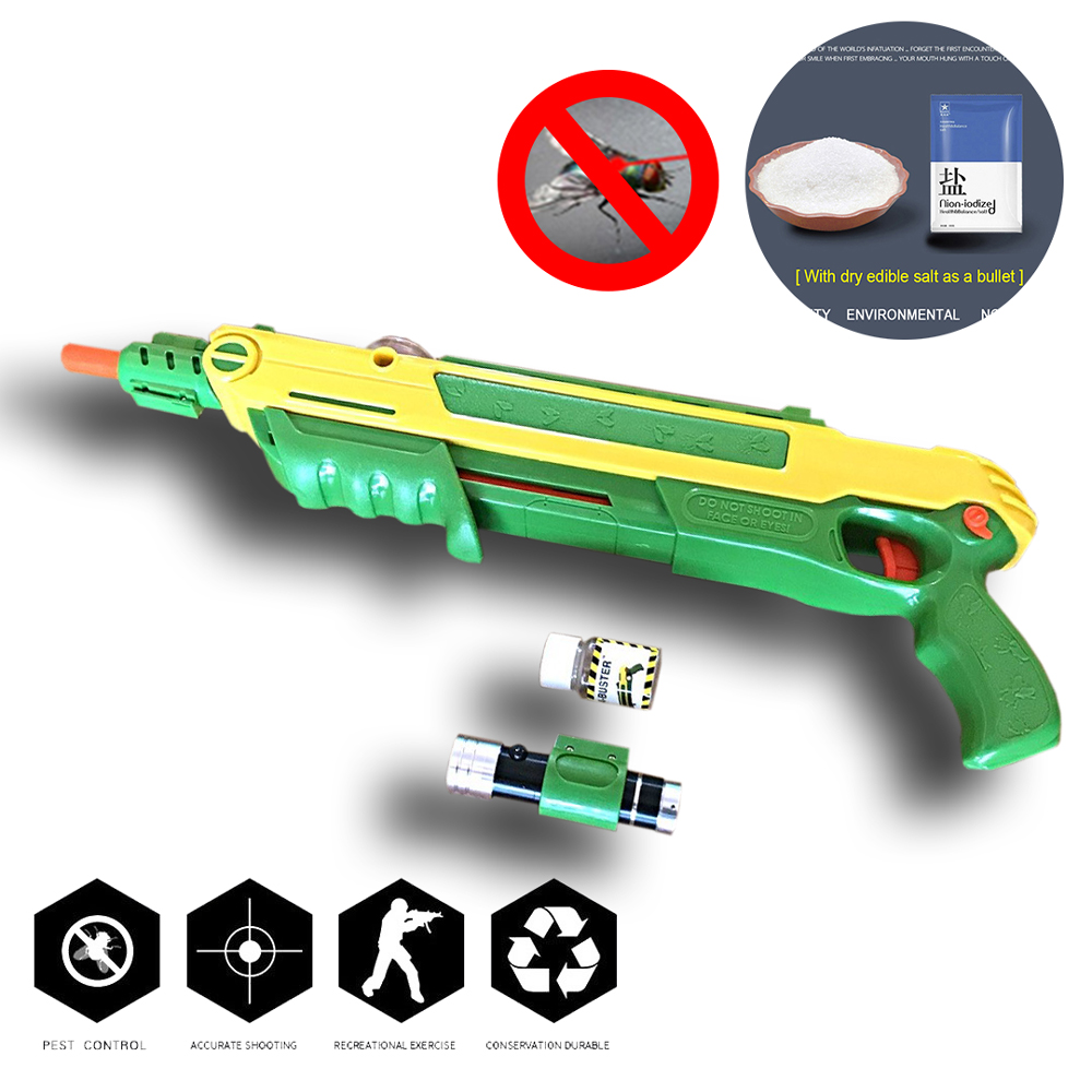 Hot! [ Salt Fly Gun and and Pepper Bullets Blaster Airsoft for Bug Blow Gun Mosquito Model Toy Salt Gun ] 2018 Bicycle Lights 2 in 1 salt pepper shaker