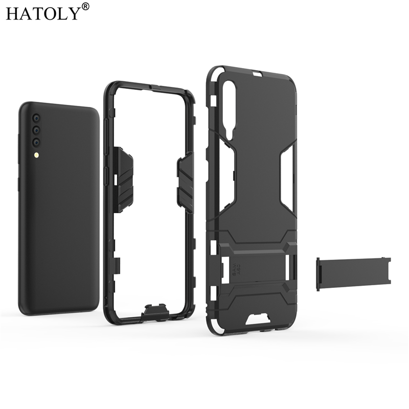 Image 5 - For Samsung Galaxy A70 Case Soft Silicon + Hard PC Cover Shockproof Armor Bumper Case For Samsung A30 A40 A50 A60 A70 A80 Case-in Fitted Cases from Cellphones & Telecommunications