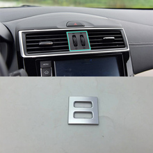 ABS Matte Interior middle air vent Cover Trim 1pcs Car Styling Accessories For Nissan 2017 TIIDA