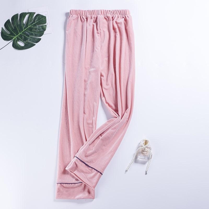 Women\\\'S Sleep Pants Sleep Bottoms Trousers Silk Gold Velvet Pants