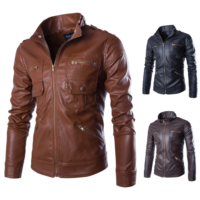 05011e45f709c Hot ! High quality new Spring fashion leather jackets men