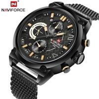 2017 Men Watch Fashion Mens Quartz Watches Stainless Steel Mesh Strap Waterproof Business Watch Hour for Man megir Male Watches