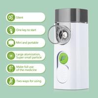 USB Rechargeable Ultrasonic Handheld Facial Steamer Mist Inhaler Vaporizer Personal Mist Inhaler Portable Nebulizer for Home Facial Steamer