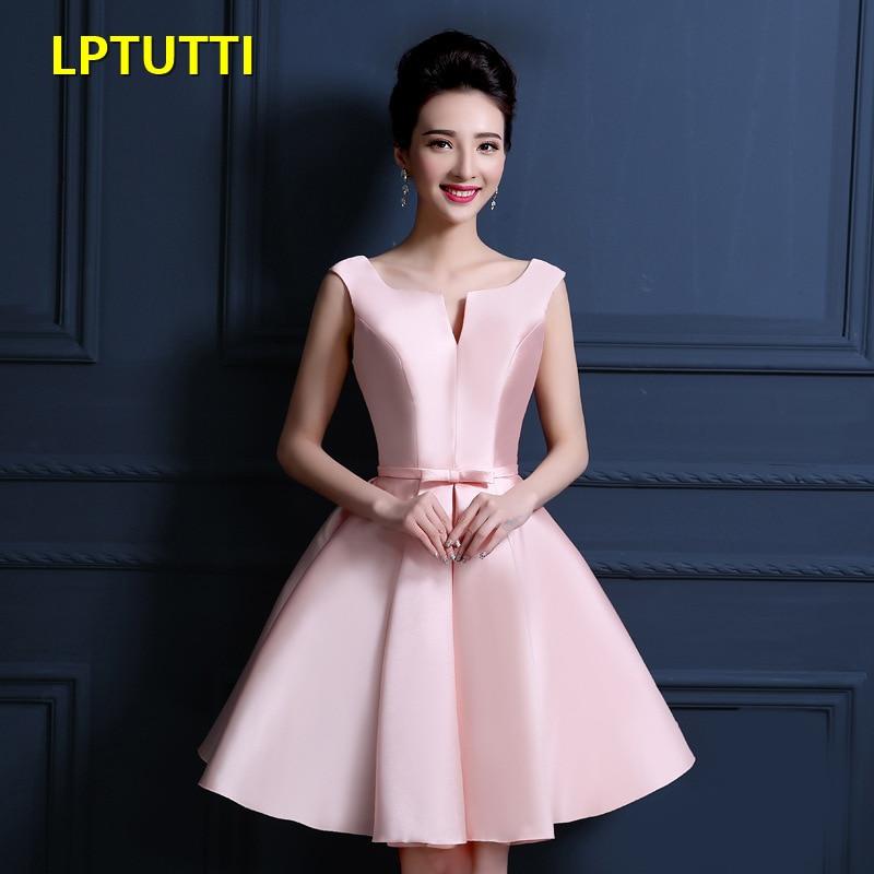 LPTUTTI Satin New Sexy Woman Plus Size Social Festive Elegant Formal Prom Party Gowns Fancy Short