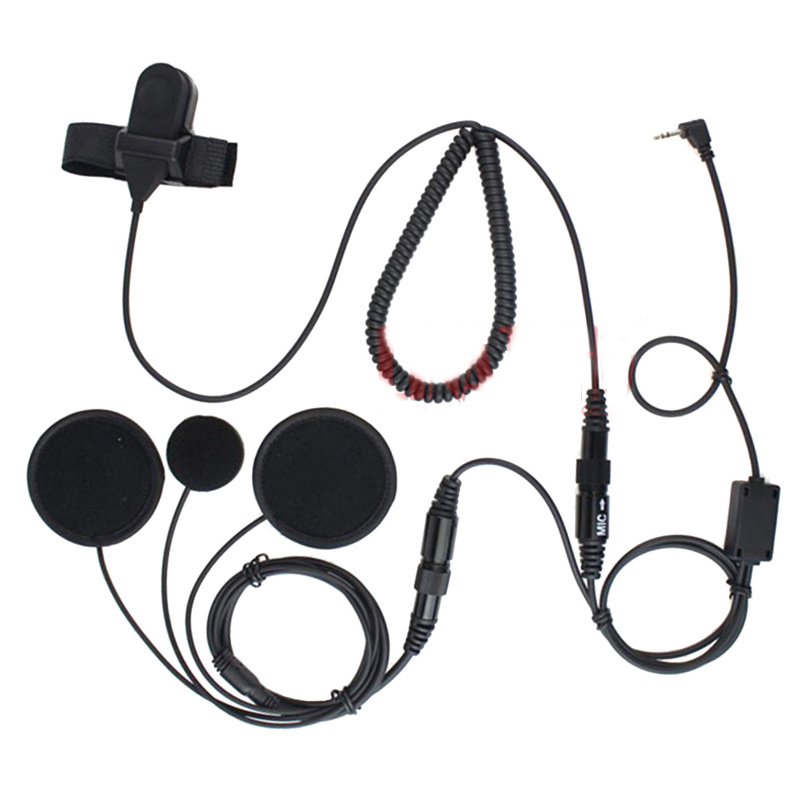 2 5mm Jack Full Face Close Motorcycle Helmet Headset Ptt For