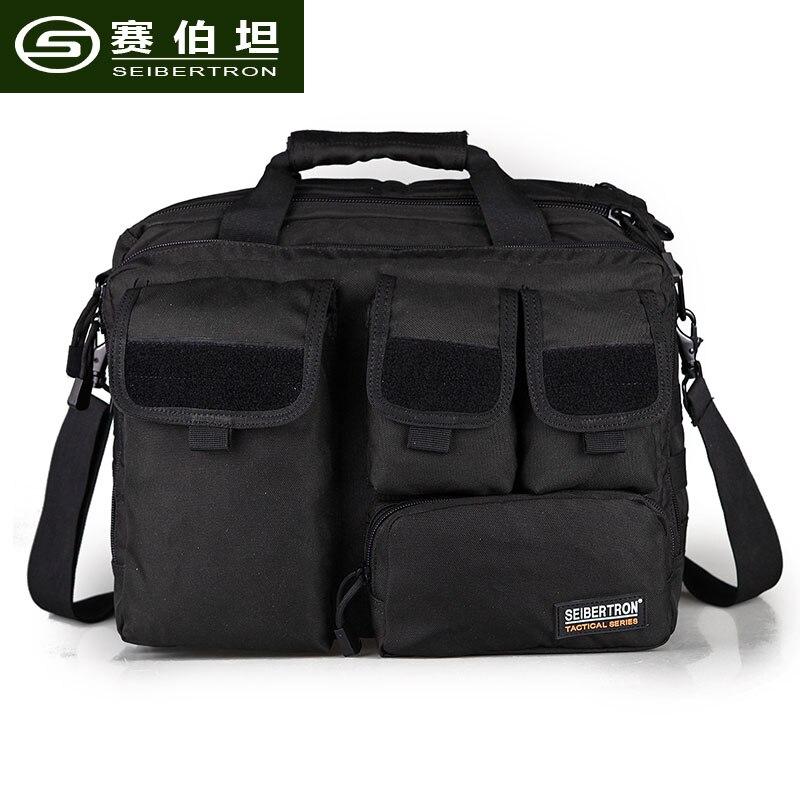 Seibertron Pro-Multifunction Mens Military Tactical Outdoor Shoulder Messenger Bag Handbags Briefcase Briefcase laptop bag 15.6 seibertron edc