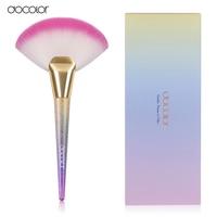 Docolor Professional 1pc Soft Makeup Large Fan Brush Blush Powder Foundation Make Up Tool Big Fan