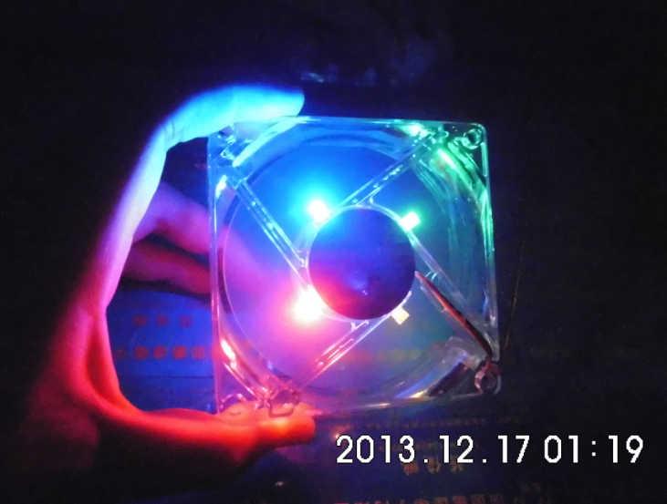 SXDOOL pc computer fan 80mm mit led 8025 8 cm silent lüfter 12 V LED leucht chassis molex 4D stecker