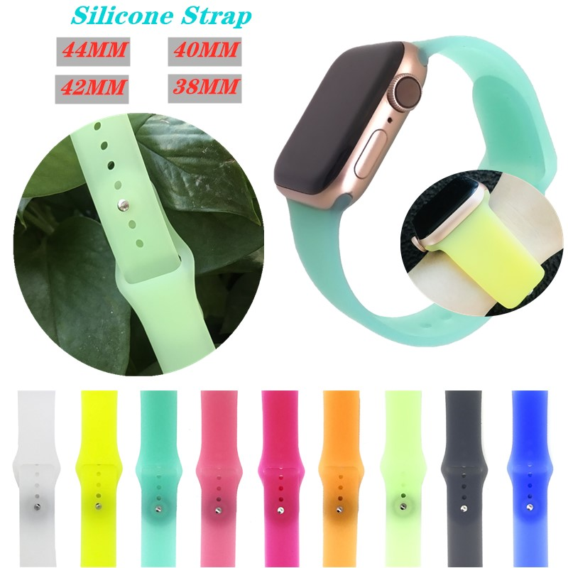 Silicone Transparent Bracelet 38/42mm For Apple Watch Band 44/40mm Sport Strap Replacement Wristband For IWatch 4/3/2/1 Accessor