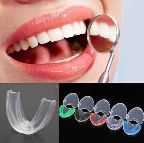 2018 nueva venta caliente deporte adulto silicona dentadura dientes claro Gum Shield dientes Protector boca guardia pieza Rugby fútbol boxeo