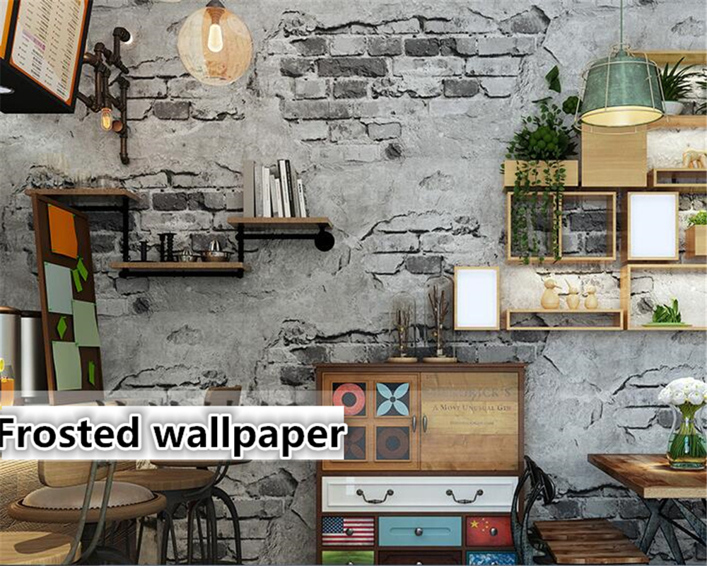 beibehang wallpaper for walls 3 d Retro Vintage Gray 3d wallpaper Cement Brick Wall Industrial Wind Rustic Background Wall Paper wallpaper for walls 3 d modern trdimensional geometry 4d tv background wall paper roll silver gray wallpapers for living room