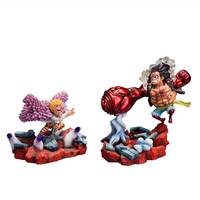 12~17cm Anime One Piece TOY Luffy VS Doflamingo Showdown Ver PVC Action Figure Model Collection Kids Gift Lovely Decoration Doll