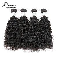 Joedir Pre Colored Malaysian Curly Wave Human Hair Bundles Deals 4 Bundles Non Remy 10 26