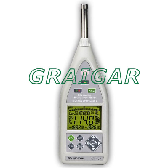 ST-107 Class 2 Integrating Sound Level Meter,Storage up to 32,000 records,USB interface,AC and DC output with Bargraph display