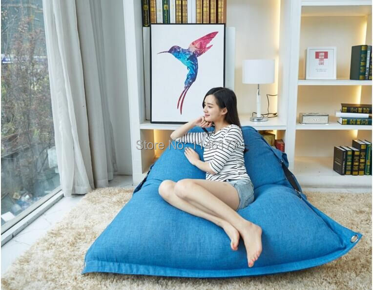 Синяя Функциональная Погремушка Открытый Водонепроницаемый Большой Мешок Фасоли Диван-Кресло Для Отдыха Мебель