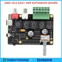 Raspberry Pi DAC Full-HD Class-D Amplifier I2S PCM5122 X400 Audio Expansion Board Raspberry Pi 3 Model B+(Plus)/3B Music Player