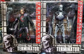 "2pcs Set New Hot Classic Sci-Fi Movie Game Robocop Vs Terminator 7""  Endoskeleton T-800 Action Figure Toys Original Box"