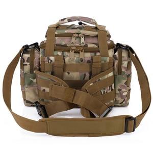 Image 4 - Taktyczna wojskowa torba na biodro Molle torba sportowa na ramię wodoodporna Oxford Camping Travel turystyka Trekking kamuflaż torby XA739WA