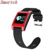 Smartch DM68 Смарт Браслет Фитнес трекер Приборы для измерения артериального давления сердечного ритма Мониторы вызовы сообщения часы для