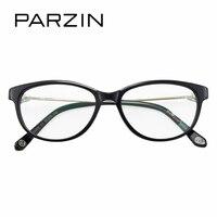 PARZIN High Grade Women Optics Myopia Eyewear Frames With Clear Lens Brand Design Cat Eye Prescription