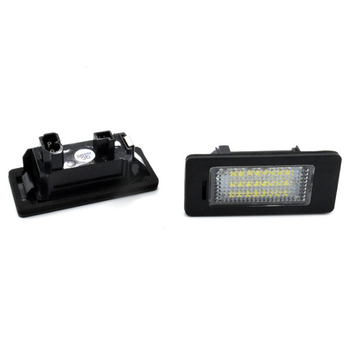A Pair Of Car Led Headlights License Plate Lights For Bmw E39 M5 E5 E90 E90 E92 E93 E70 E71 X5 X6 M3 image