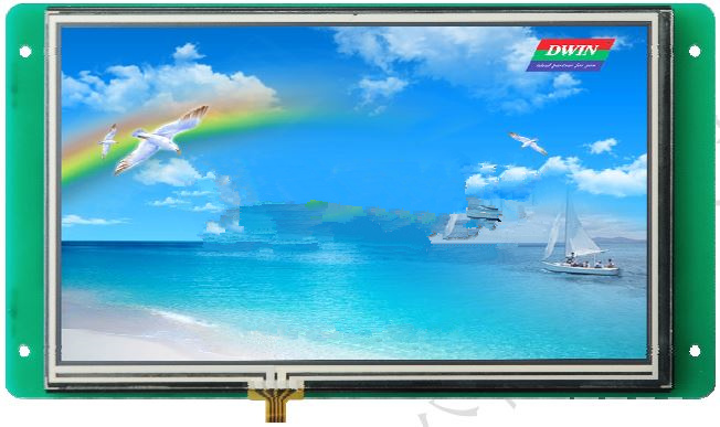 DMT80480S070_06W 7 inch reliable industrial serial screen screen control interface instead 8 4 8 inch industrial control lcd monitor vga dvi interface metal shell open frame non touch screen 800 600 4 3