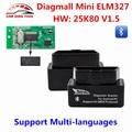 Diagmall ELM327 Bluetooth V1.5 OBD2 Del Coche Herramienta de Diagnóstico Autoscanner OBDII Lector de Código DEL OLMO 327 V1.5 Automotivo Para Android Torque