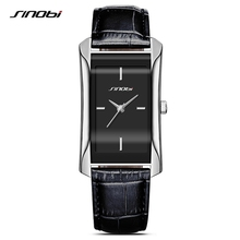 SINOBI エレガントな女性の長方形腕時計耐久性のある革時計バンドトップ高級ブランド女性ジュネーブクォーツ時計女性ギフト