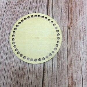 Image 2 - 20 قطعة 10 سنتيمتر سلة دائرية قواعد diy خشبية جولة قيعان فارغة دائرة عبر غرزة