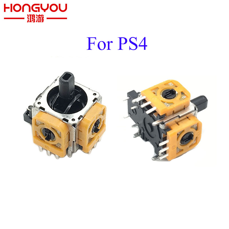 Replacement Yellow 3D Analog Sensor Axis Module Switch For PS4 3D Joystick Case Repair Parts For Dualshock4 PS 4 Controller