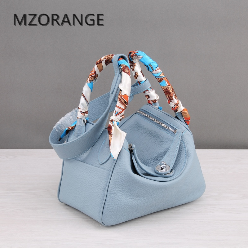 MZORANGE 2018 New classic genuine leather women handbags Fashion brand Lady shoulder bags nineteen color Casual Tote crossbody b 2017 new classic casual scrub tote lady genuine leather handbags popular women fashion shoulder bags easy matching bolsas qn027