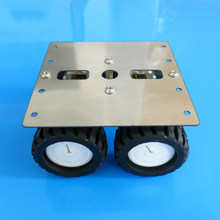 4WD Smart N20 Robot Car Chassis Stainless Steel Metal Frame Platform 90*90mm Gear Motor DIY Intelligent Vehicle Tank Model(China)