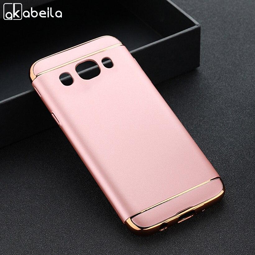 AKABEILA Phone Case For Samsung Galaxy J5 2016 J510FN J510F J510G J510 J5109 J5100 J510X J5108 5.2 inch Plating Plastic Covers