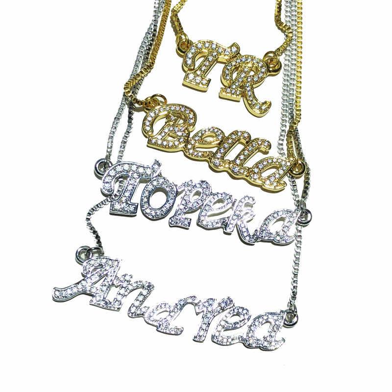 Пользовательские льдом имя кулон женские ювелирные изделия